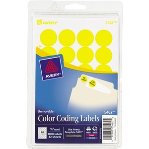 Avery Round Color Coding Label AVE05462