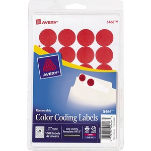 Avery Round Color Coding Label AVE05466