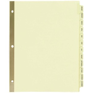 avery laminated pre printed tab dividers gold reinforced servmart