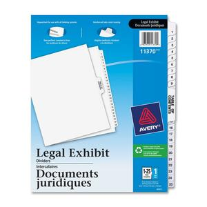 Avery Premium Collated Legal Exhibit Divider AVE11370