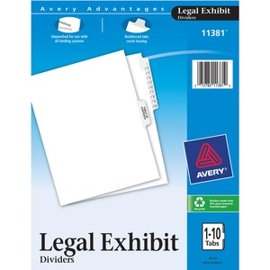 Avery Premium Collated Legal Exhibit Divider AVE11381