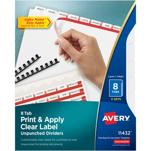 Avery Index Maker Clear Label Divider AVE11432