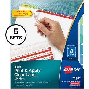 Avery 8-Colored Tabs Presentation Divider AVE11991