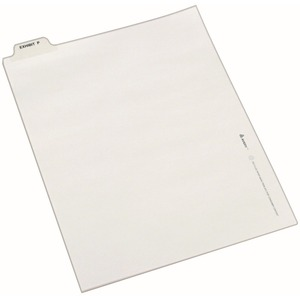 Avery Individual Bottom Tab Legal Exhibit Dividers AVE12389
