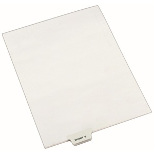 Avery Individual Bottom Tab Legal Exhibit Dividers AVE12395