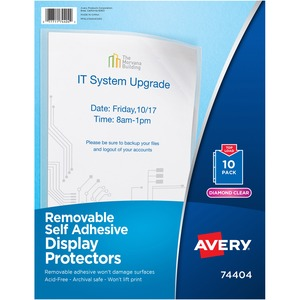 Avery Removable Self Adhesive Display Protector AVE74404