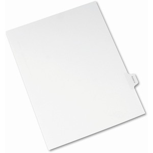 Avery Legal Exhibit Index Divider AVE82114