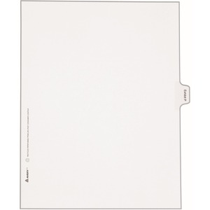 Avery Legal Exhibit Index Divider AVE82122