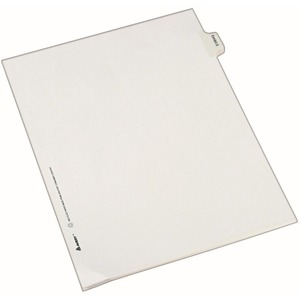 Avery Legal Exhibit Index Divider AVE82125