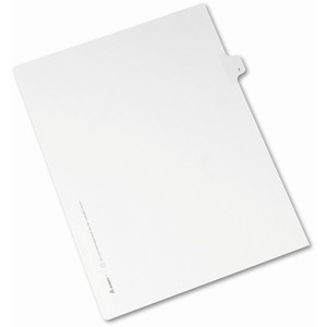 Avery Individual Legal Tab Divider AVE82182