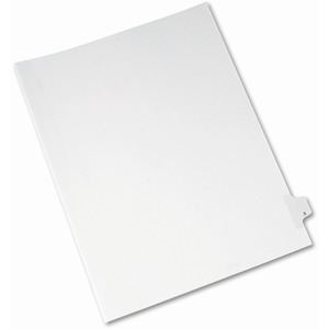 Avery Individual Legal Tab Divider AVE82186