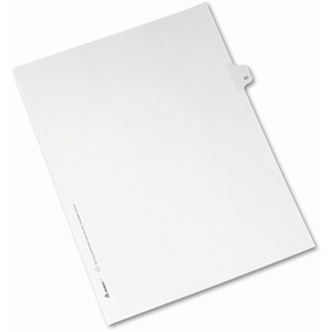 Avery Side-Tab Legal Index Divider AVE82241
