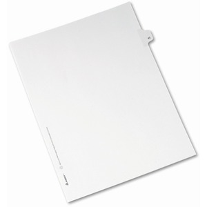 Avery Side-Tab Legal Index Divider AVE82243