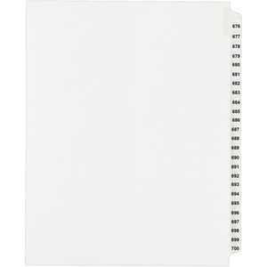 Avery Side Tab Collated Legal Index Divider AVE82306