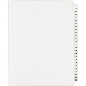 Avery Side Tab Collated Legal Index Dividers AVE82307