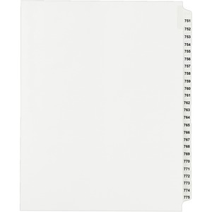 Avery Side Tab Collated Legal Index Divider AVE82309