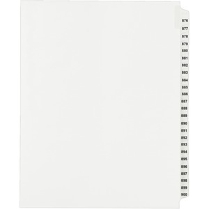 Avery Side Tab Collated Legal Index Divider AVE82314