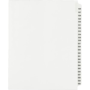 Avery Side Tab Collated Legal Index Divider AVE82316