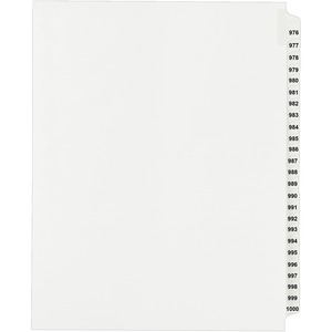 Avery Side Tab Collated Legal Index Divider AVE82318