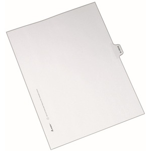Avery Individual Side Tab Legal Exhibit Dividers AVE82336