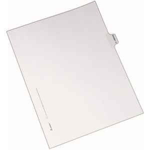 Avery Individual Side Tab Legal Exhibit Dividers AVE82337