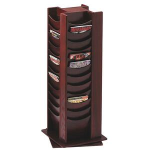 Buddy 48 Pockets Wood Rotating Literature Rack BDY61516