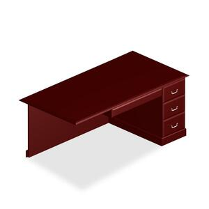 DMi Governor's Box/File Single Pedestal Desk DMI7350580