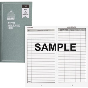 Dome Publishing Auto Mileage Log DOM770