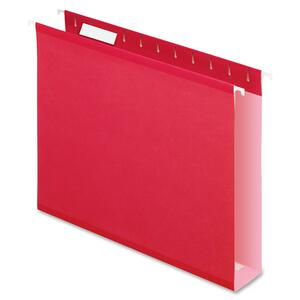 Esselte Colored Box Bottom Hanging Folder ESS4152X2RED