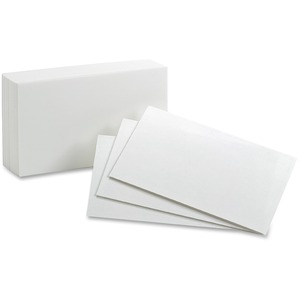 Oxford Blank Index Cards ESS50