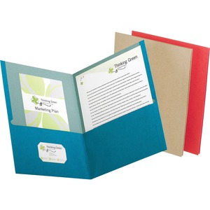 Earthwise Oxford 100% Recycled Paper Twin Pocket Folders ESS78513