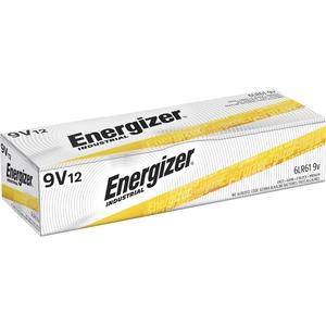 Energizer Industrial Alkaline 9V Battery - 9V - Alkaline - 9 V DC - 12 / Box