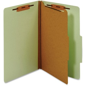 Globe-Weis Legal Classification Folders With Divider GLWPU44GRE