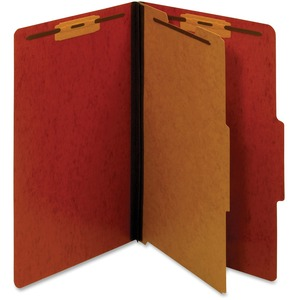 Globe-Weis Legal Classification Folder With Divider GLWPU44RED