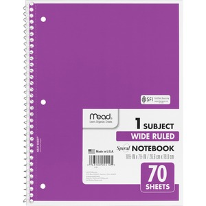 Mead One Subject Notebook MEA05510