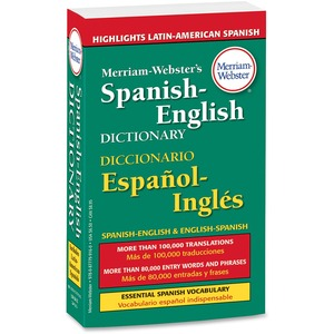 Merriam-Webster Spanish-English DictionaryDictionary Printed Book - English, Spanish MER916