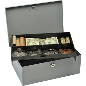 MMF Heavy-gauge Steel Cash Box with Security Lock MMF221618201