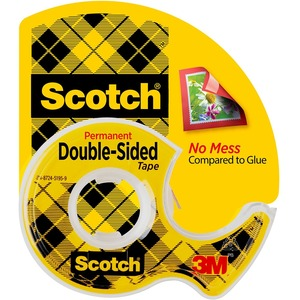 Scotch Double Sided Tape With Dispenser MMM137