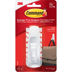 Command Large Reusable Adhesive Strip Hook MMM17003