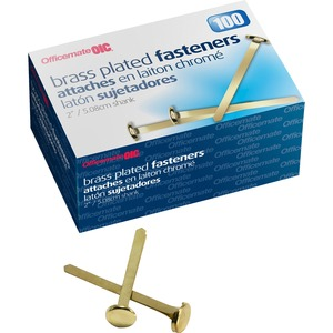 OIC Brass Plated Roundhead Fasteners