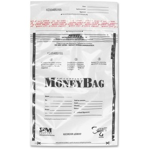 PM SecurIT Plastic Disposable Deposit Money Bag PMC58002