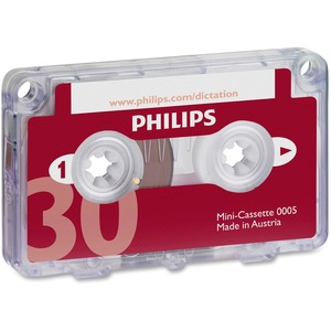 Philips Speech Dictation Minicassette With File Clip PSPLFH000560