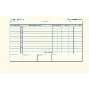 Rediform Time Clock Cards RED4K406