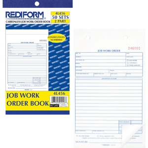Rediform Job Work Order Book RED4L456