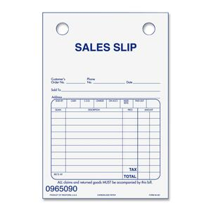 Rediform Portable Registers Sales Slip Refills RED50461