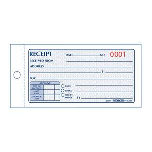 Rediform Money Receipt 2/Part Collection Forms RED8L820