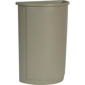 Rubbermaid Half Round Wastebasket RCP352000BG