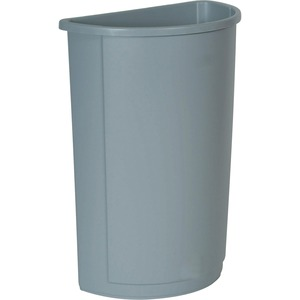 Rubbermaid Half Round Wastebasket RCP352000GY