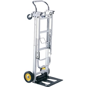 Safco HideAway Convertible Hand Truck - 400 lb Capacity - 4 Casters - 6