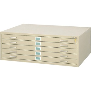 Safco 5-Drawer Steel Flat Files & Base SAF4994TSR